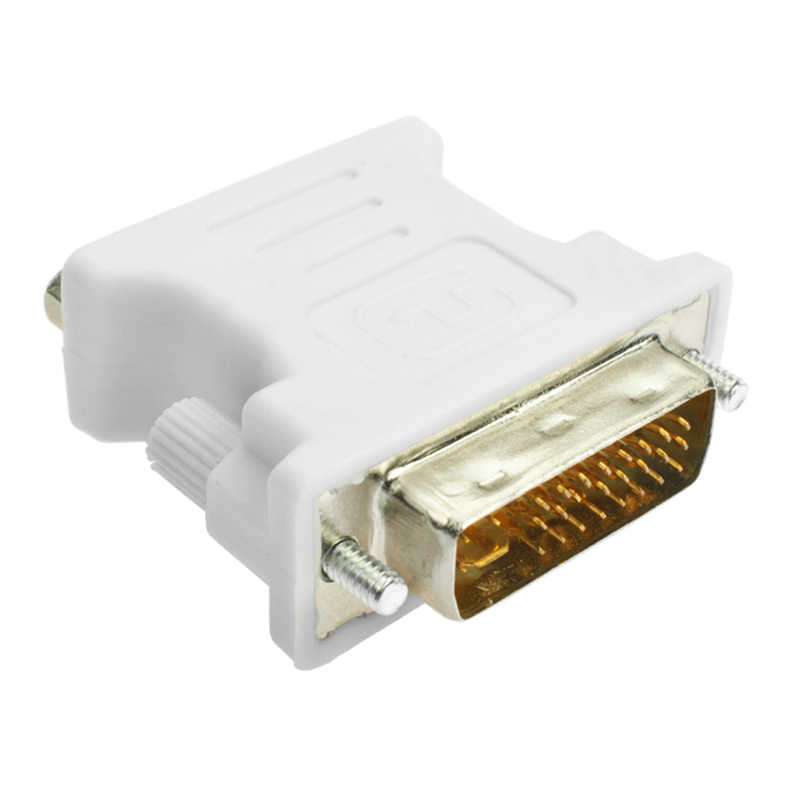 Jckel 1080P DVI Aku 24 + 5 TO VGA Cable Pria Wanita Converter Video Adapter Switch Konektor untuk HDTV PC Proyektor Monitor Display