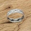Jóias de prata artesanais Anel de Prata retro ampla corda anel personalidade cruz