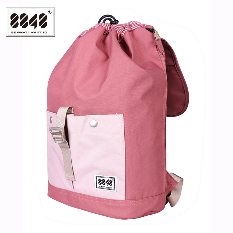 8848 Brand Backpack Women Backpack Travel Backpack Waterproof Oxford Soft Back Large Capacity Bag Pink Style Laptop 132 028 008 in Backpacks from Luggage Bags