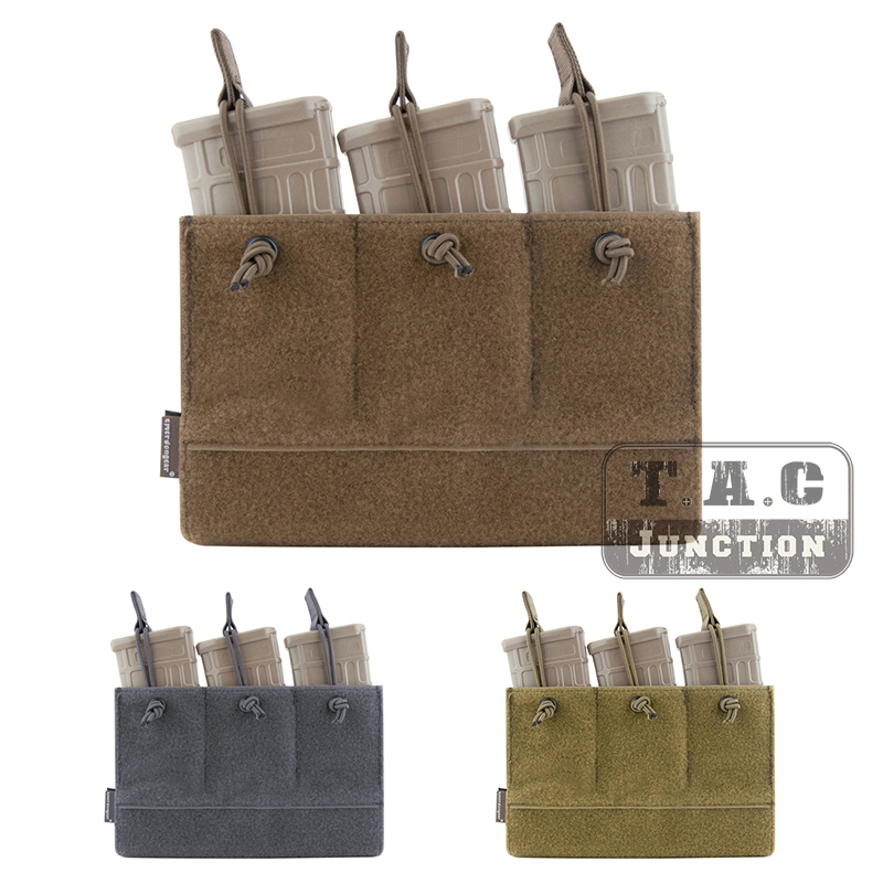 EmersonGear Triple <font><b>M4</b></font> 5.56 223 <font><b>Magazine</b></font> Pouch Tactical Insert Mag Carrier Hook & Loop Military Pouch For LV-MBAV LBT-6094 image