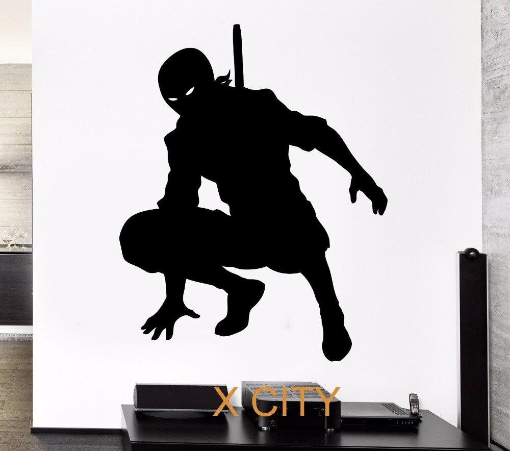Noir Sticker Japon Samurai Ninja Ombre Silhouette
