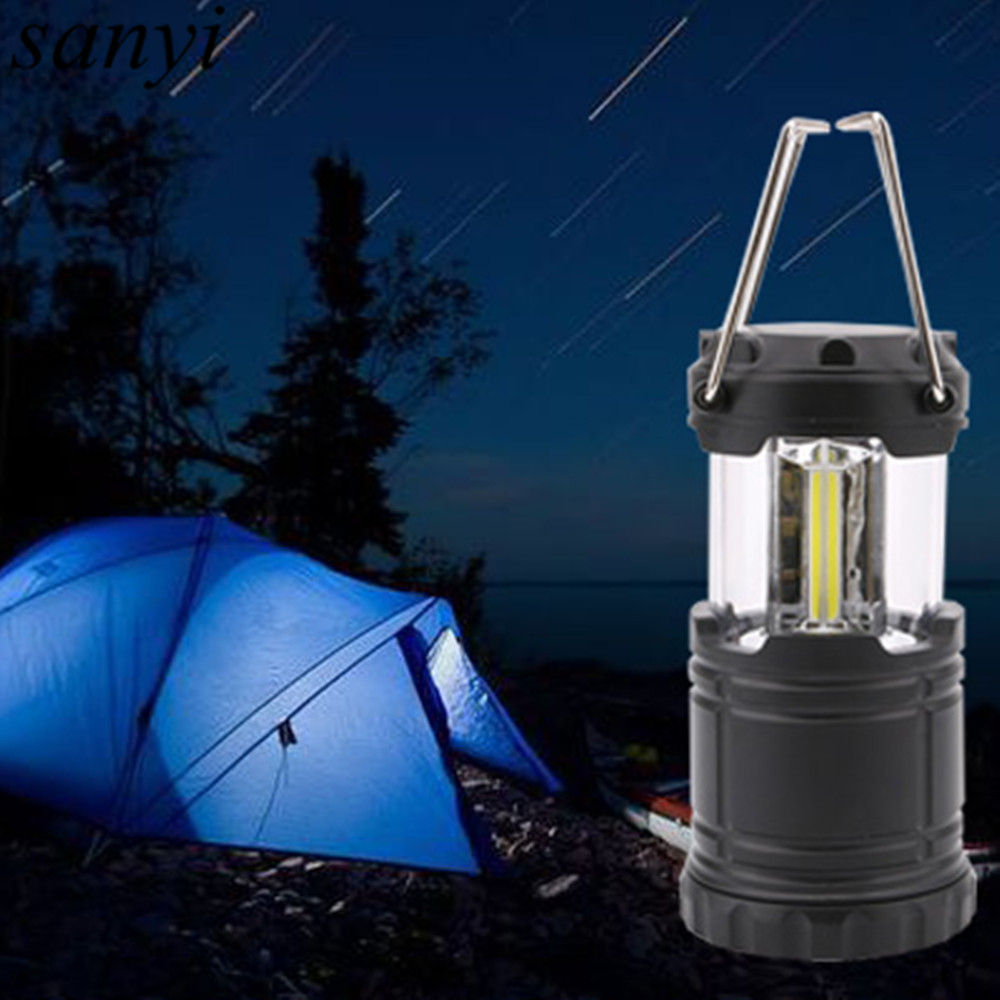 Mini Portable LED Tent Light Stretch Outdoor Camping Lantern Hiking Lamp 3 COB LED Waterproof Camping Light Powered By 3*AAA outdoor 100lm 3 mode led zooming flashlight camping lamp lantern blue 3 x aaa