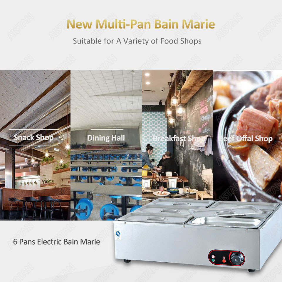 EH1A electric bain marie food warmer machine for hotel and restaurant 6