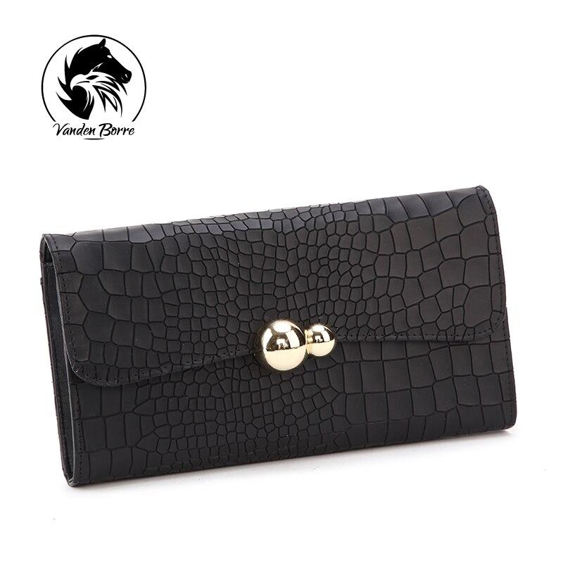 ФОТО 2016 Brand New Fashion Women Split High quality Genuine leather Wallet, Long Women's Casual Wallets,Lady's Alligator Pattern