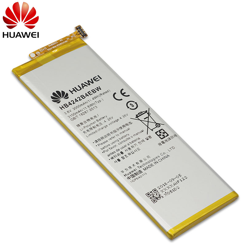 Hua Wei Original Phone Battery HB4242B4EBW For Huawei Honor 6 / Honor 4X / Honor 7i / Shot X Shotx 3000mah Battery