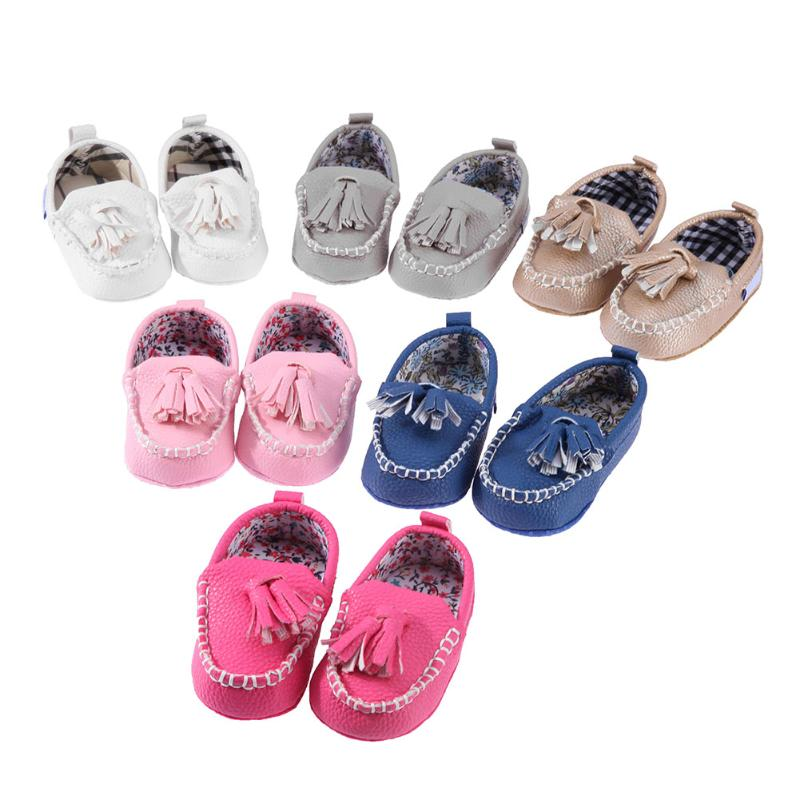 New PU Leather Baby Prewalker Shoes Fashion Toddler Soft Bottom Antiskid Shoes Baby Boys Girls Spring Autumn First Walkers