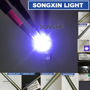 Image 2 - 1000pcs/lot 1W 2W SMD LED Kit 3V/6V 2835/3030/2828/3535/5630/7020/7030/4020/4014/7032 Cold white For TV Backlight Beads 10*100LG
