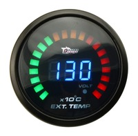 2 52MM ELECTRICAL AUTO GAUGE DIGITAL WIDEBAND EXHAUST GAS TEMP GAUGE WITH SENSOR