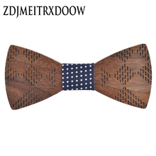 wooden Geometric gravata bow