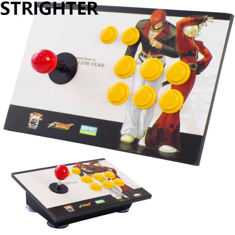 цена на arcade joystick 8 buttons King of fighters pc controller computer game Joystick Consoles