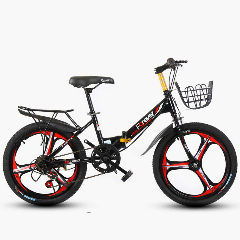 Children's  Mountain Bike 20inch Single Speed 6 Speed Folding Bicycle 3 Knife Wheel And Spoke Wheel Bike Boy And Girl Bicycle
