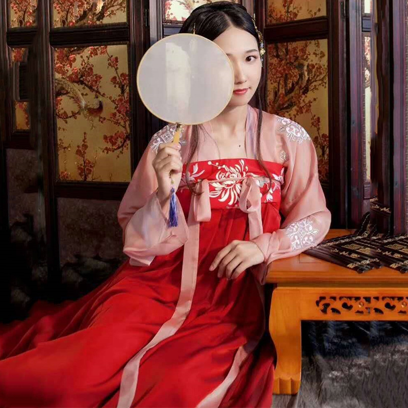 Classic Hanfu Chinses Traditional Dance Costume Women Tang Dynasty Cosplay Performance Clothes Oriental Festival Outfit DC1806