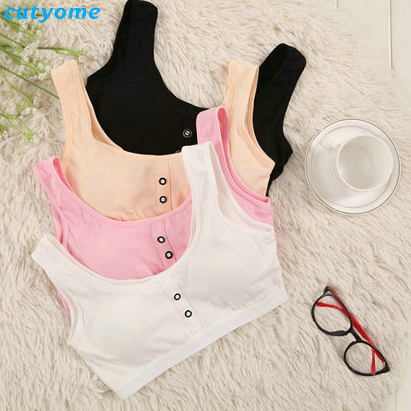ff99acbe418de 8-15Y Girl Student Puberty Bra Teenage Vest Underpants Wire Free Cute Girl  Underclothes Cotton Print Child Underwear Suit. US  4.76