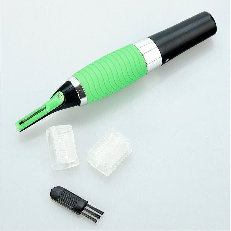 НОВЫЙ Micro Precision Бровей Уха Носа Триммер для Удаления Clipper Бритвы Личная Электрический Встроенный СВЕТОДИОДНЫЙ Свет Уход За Кожей Лица Волосы Тример