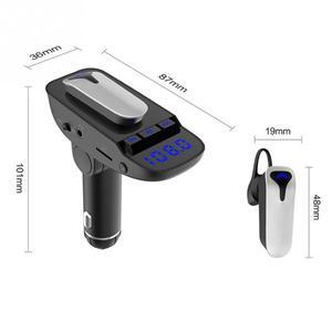 Image 4 - ER9 אוטומטי על/כיבוי מכונית דיבורית MP3 Bluetooth 4.2 אוזניות עם טעינת פונקציה שחור מתאם אלחוטי משדר #2