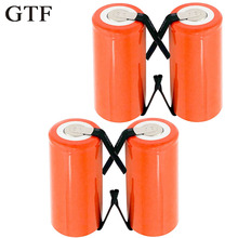 4pcs Sub C 1.2V 2800Mah Ni-CD Battery SC Rechargeable Replacement Batteria with Tab Extension Cord Processed Drop ship