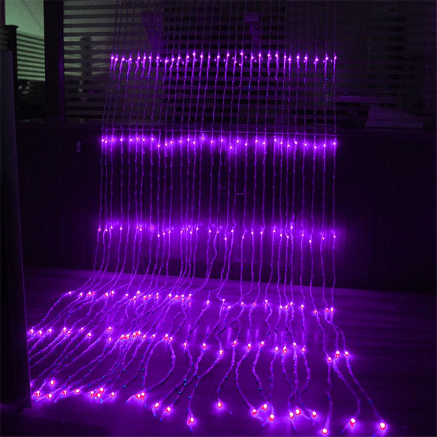 Waterproof 3x2M 280 LED Waterfall String Lights Holiday Curtain Icicle Light Wedding Xmas Christimas Party Festival Decor Lights