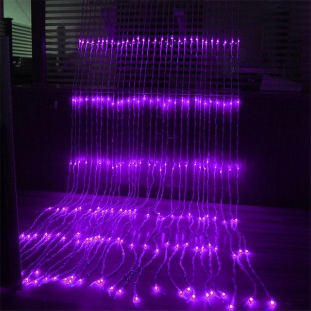 Waterproof 3x2M/3x3M/3x6M LED Waterfall String Lights Holiday Curtain Icicle Light Wedding Christimas Party Decor Lights Garland