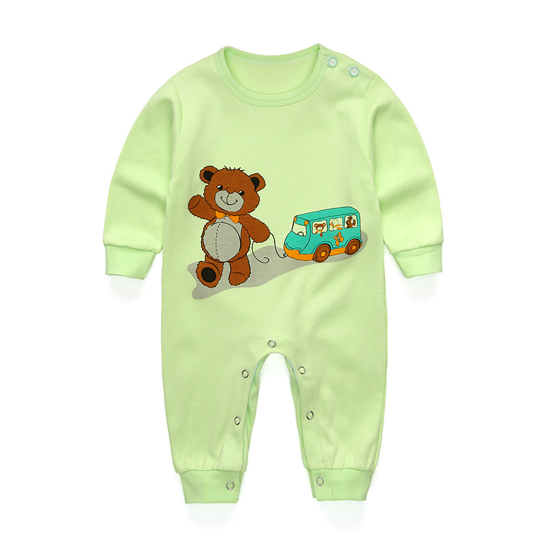 Cotton Newborn Baby Boy Girl Spring Rompers Cartoon Bear Girls Boys Soft Clothing Set Infant Long Sleeve T-shirt + Pants Outfits baby rompers 2016 spring autumn style overalls star printing cotton newborn baby boys girls clothes long sleeve hooded outfits