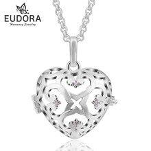 Кристалл Любовь Сердце ожерелье ювелирные изделия медальон Подвеска клетка подходит для 18 мм внутренний шар женское ожерелье женские ювелирные изделия оптом 5 шт