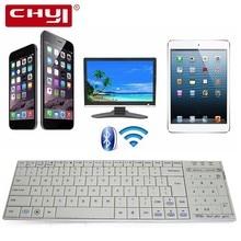 Chyi Подлинная Bluetooth 3.0 rf Беспроводной клавиатура с тачпадом мышь Ultra Slim мини сенсорной панелью для ПК Умные телевизоры IP ТВ android ТВ