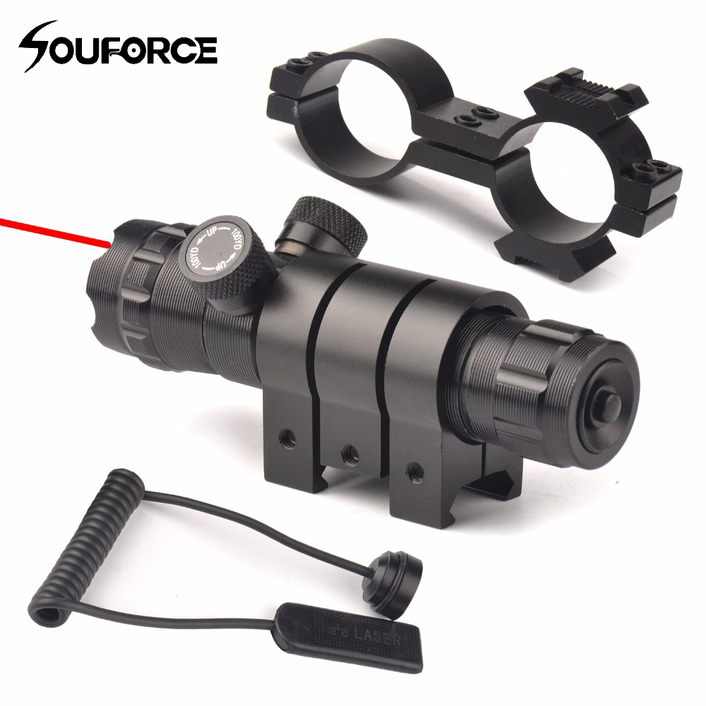 Upgrade Tactical Red Laser Gun Sight Scope With Mount Remote Pressure Switch For Airsoft Rifle 20mm Picatinny Rail