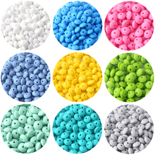 Lentil Silicone Teether 12mm 40pcs Beads DIY Bead Teething Nursing Necklace Food Grade Abacus Lets make