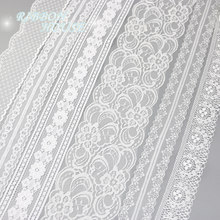 Material branco da fita da embalagem do presente do amor da decoração do webbing da tela do laço (5 jardas/rolo)