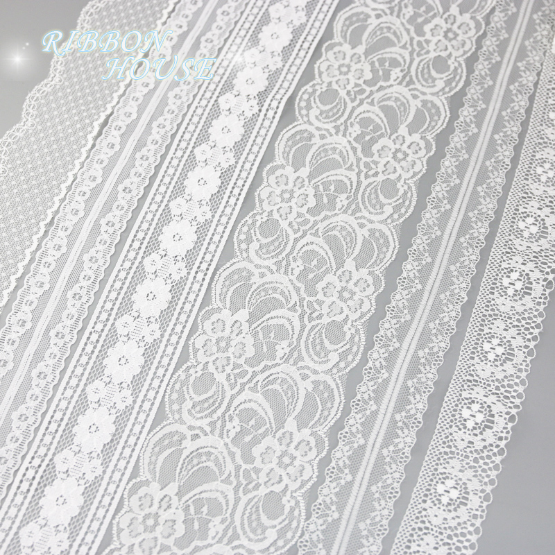 White lace fabric Webbing Decoration Love gift packing ribbon Material (5 yards/roll)-in Lace from Home & Garden on Aliexpress.com | Alibaba Group