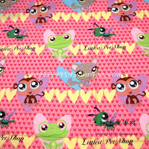 Littlest Pet Shop Bedding: Pet Shop Cotton Patchwork Fabric For DIY Sewing Quilting