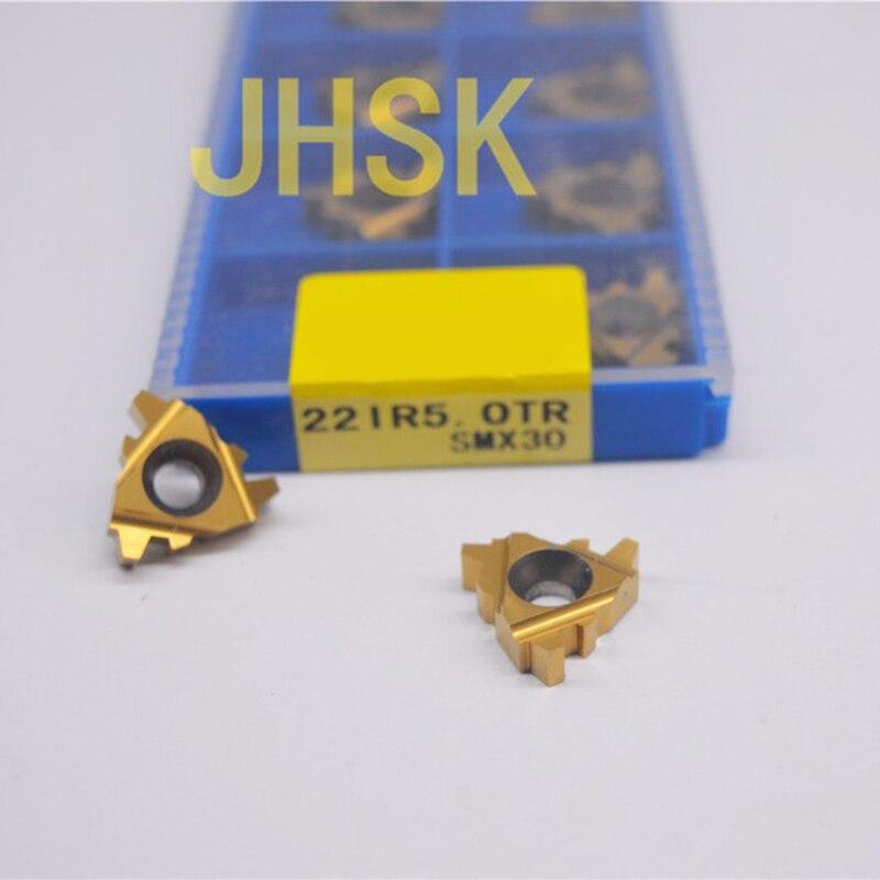 10pcs 22IR5 0TR SMX30 Carbide Insert For Threading Turning Tool Boring BAR TR5 0