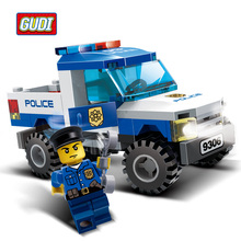 GUDI SWAT Military Fire Rescure Serie Car Helicopter Building Block Toys Technic City Soldiers Police Compatible with Legoe