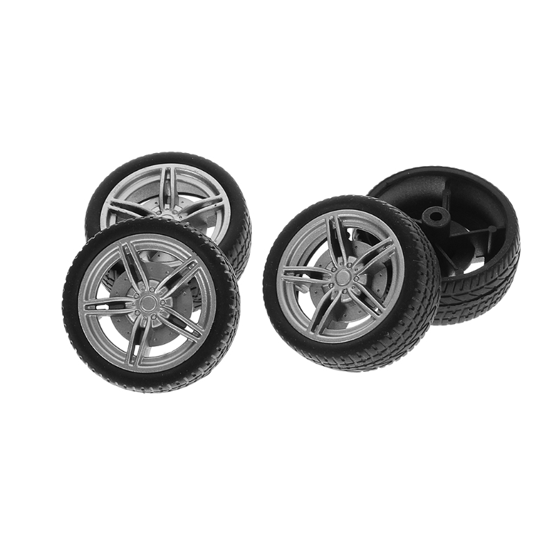 New 4pcsset  Simulation Rubber Wheel Tire Wheel Toy Model DIY RC Spare Parts