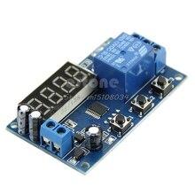 Цифровой светодиодный автоматический таймер задержки управления реле Модуль дисплей 12 в S08 и Прямая поставка
