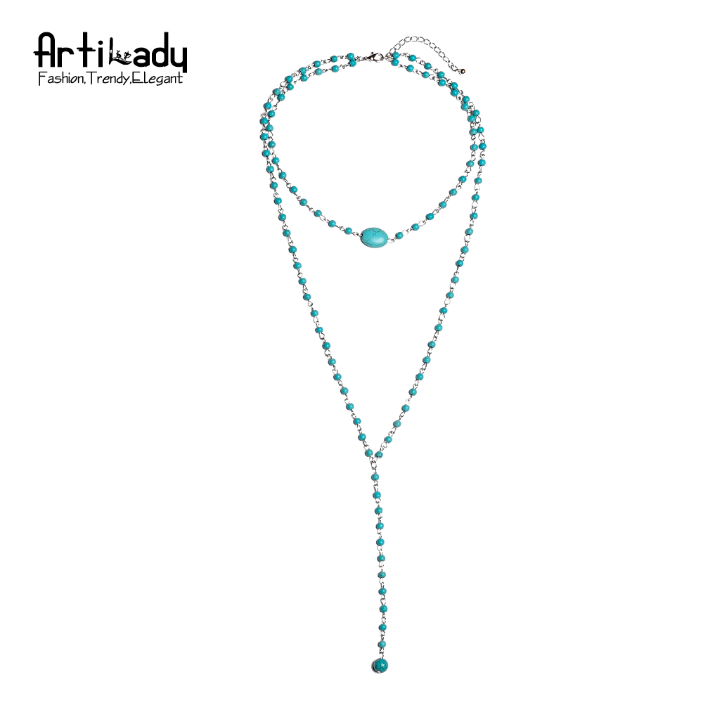 Artilady charm layer beads necklace fash