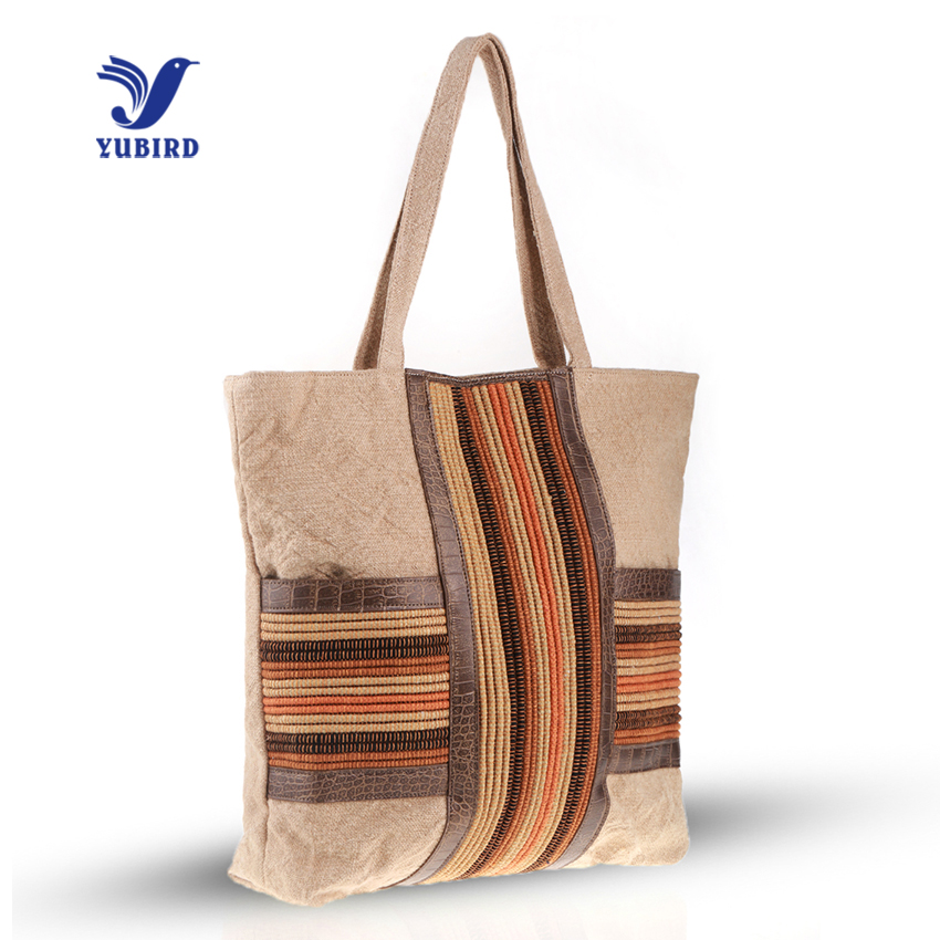 YUBIRD Large Canvas Bags Woman Shoulder Bag Patchwork Leisure Weekend Trip Fabric Tote Bag Printing Female Hand Bag bolso grande брюки weekend max mara weekend max mara we017ewtmp41