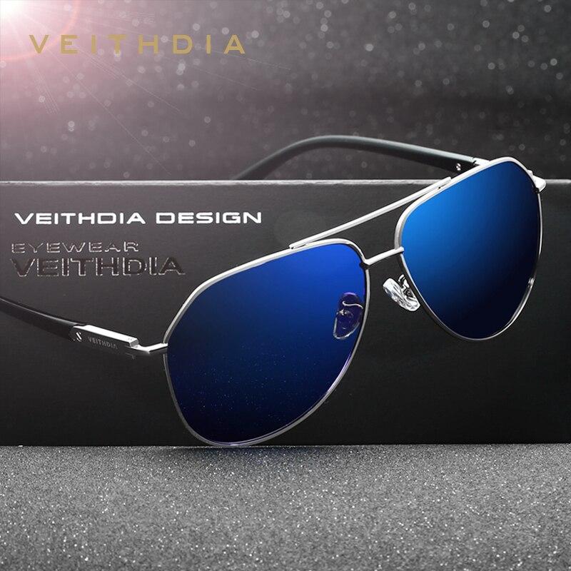 VEITHDIA מקוטב בציר משקפי שמש גברים חדש הגעה מותג מעצב שמש משקפיים gafas oculos דה סול masculino 2732