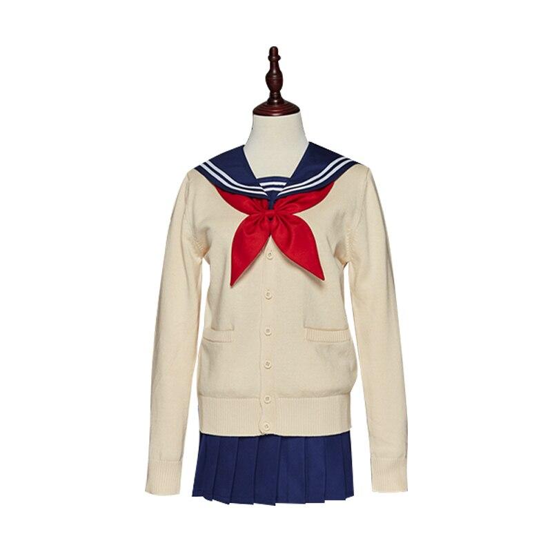 Anime mon héros académique Boku pas de héros académique Himiko Toga JK uniforme jupes chandail Sweatshirts Cardigan Cosplay Costumes