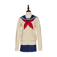 Anime My Hero Academia Boku no Hero Academia Himiko Toga JK Uniform Skirts Sweater Sweatshirts Cardigan Cosplay Costumes