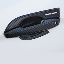 ABS Carbon fiber Exterior Side Door handle and Handle Bowl Cover Trim Decoration Accessories For Mitsubishi Eclipse Cross 2018
