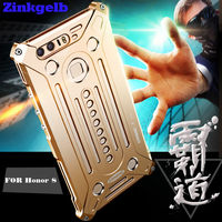 For Huawei Honor 8 Case Luxury Accessories Aluminum Metal Frame Hard Armor Protective Back Phone Case