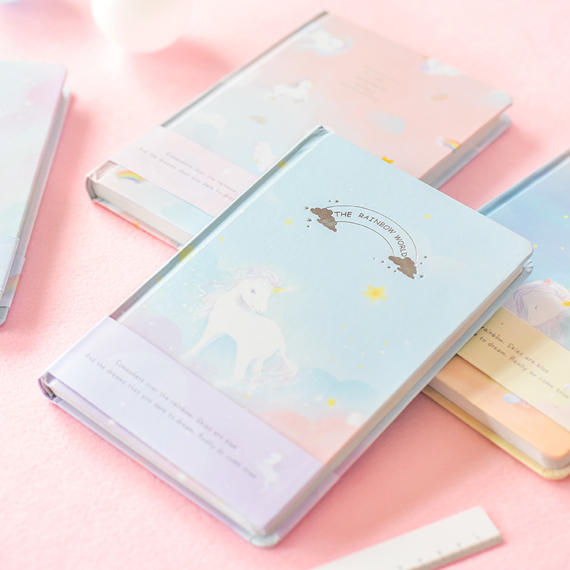 Unicorn Series Creative Notebook Korean Coloring Page Illustration Diary Simple Fresh Account Book 1PCS lancome hypnose 30мл