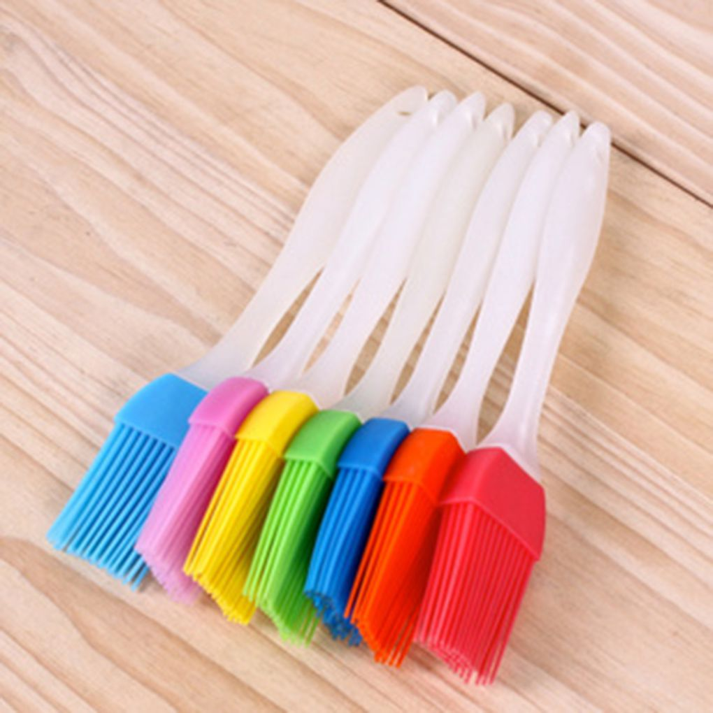 Silicone Pastry Brush Baking Bakeware Bread Cook Brushes Pastry Oil BBQ Basting Brush DIY Tool Color Random