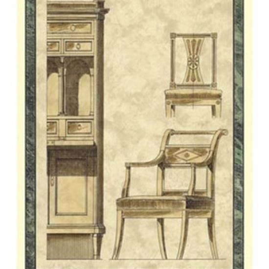 Biedermeier Furniture II Poster Print by Vision studio (16 x 21)