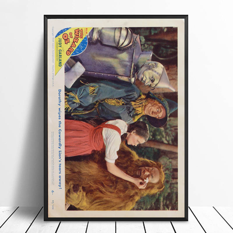 Wizard of Oz Vintage Classic Movie Poster Home Decor Wall ...
