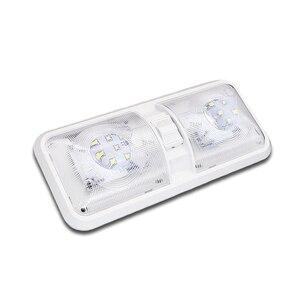 Image 1 - 28.5 سنتيمتر 12 فولت LED قافلة أضواء الداخلية RV القافلة المتنقلة مصباح المحرك اكسسوارات المنزل قبة ضوء مع التبديل