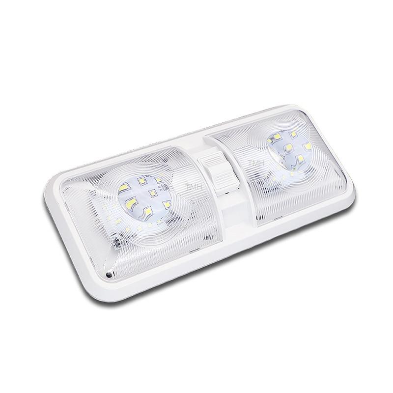 מיכל אסלה חרסה 28.5CM 12V LED קרוון פן אורות קרווני Motorhome קרוון מנורת מוטורי בית אבזרי אור כיפה עם מתג (1)