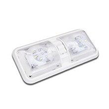 28.5CM 12V LED Caravan Interior Lights RV Motorhome Caravan Lamp Motor Home Accessories Dome Light with Switch