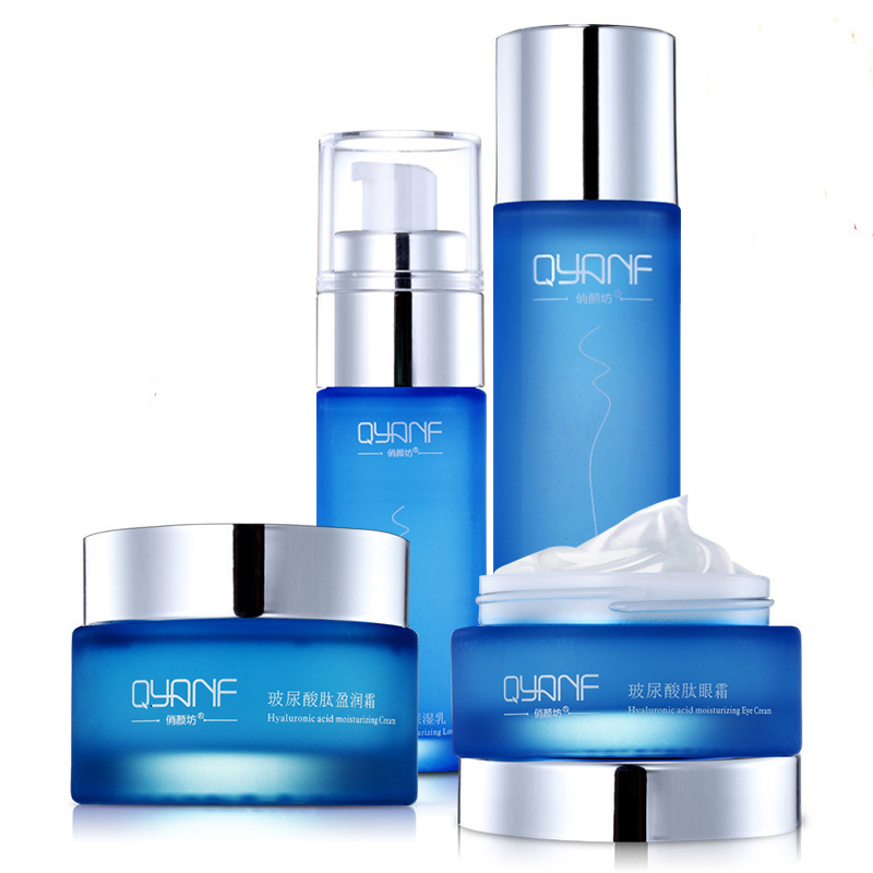 4PCS/Set Skin Care Whitening Moisturizing Essence Lotion Eye Cream Face Cream Hyaluronic Acid Liquid Firming Anti Wrinkle Cream argireline matrixyl 3000 peptide cream hyaluronic acid ha wrinkle collagen firm anti aging skin care equipment free shipping