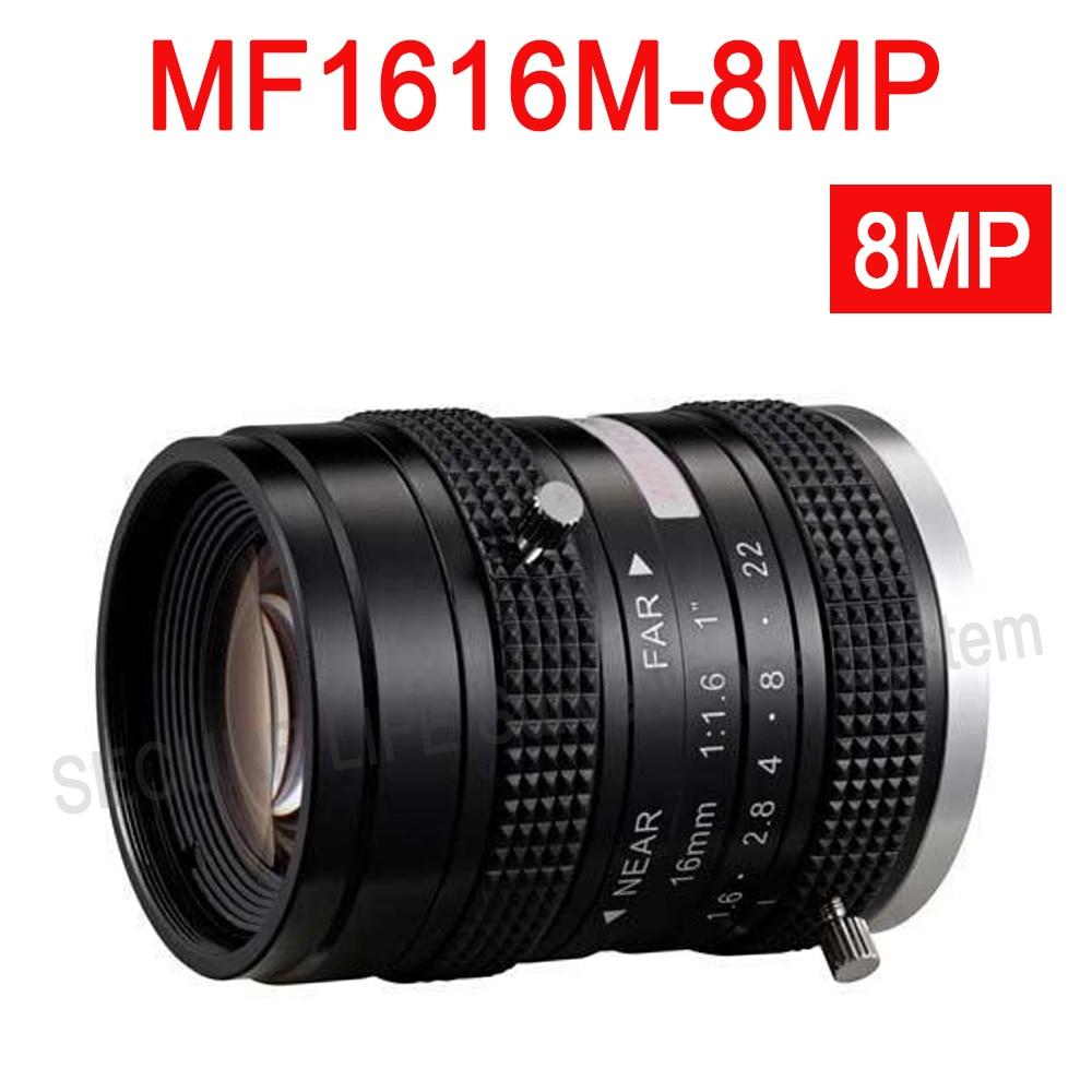 Hik cctv camera lens MF1616M-8MP Fixed Focal Manual Iris 8MP Lens 16mm hik повседневные брюки